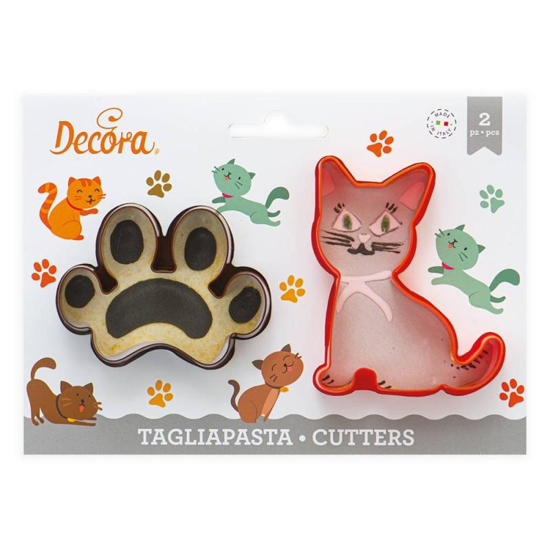 Cortadoras de gatos y huellas - 2 modelos