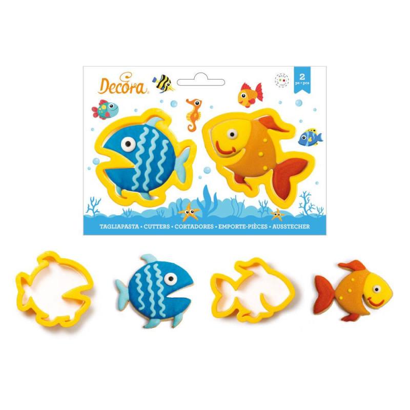 Emporte pièces poissons - 2 modèles