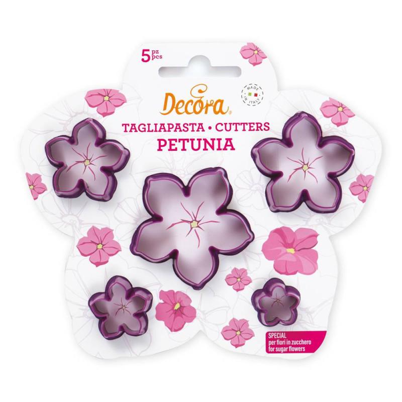 Cortadores de flores de petunia - 5 tamaños