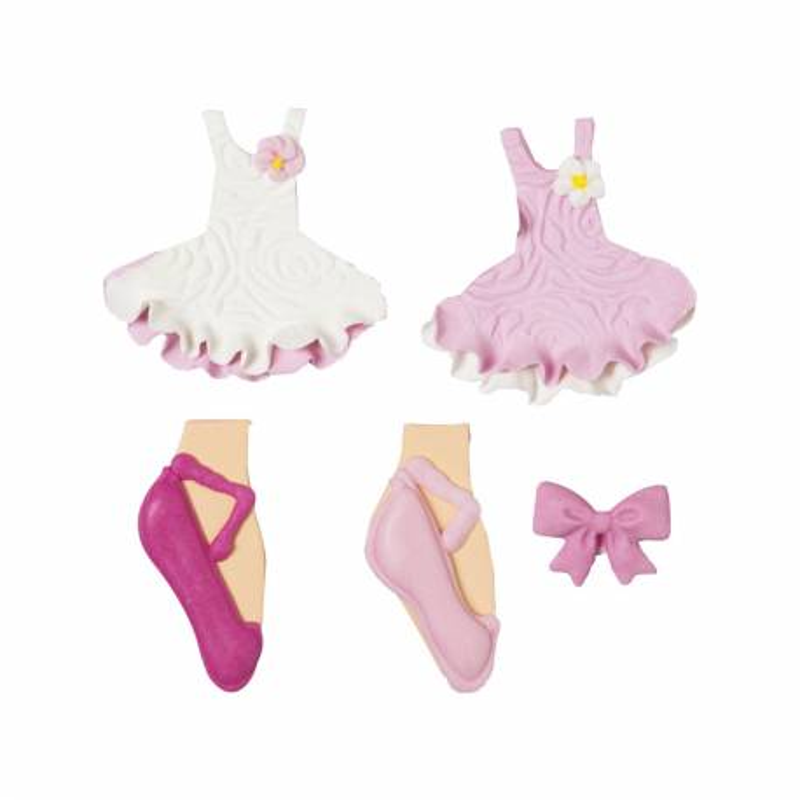 Sugar decorations ballerina x 5