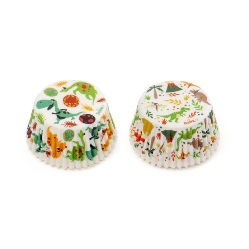 Caissettes à cupcakes dinosaures x 36