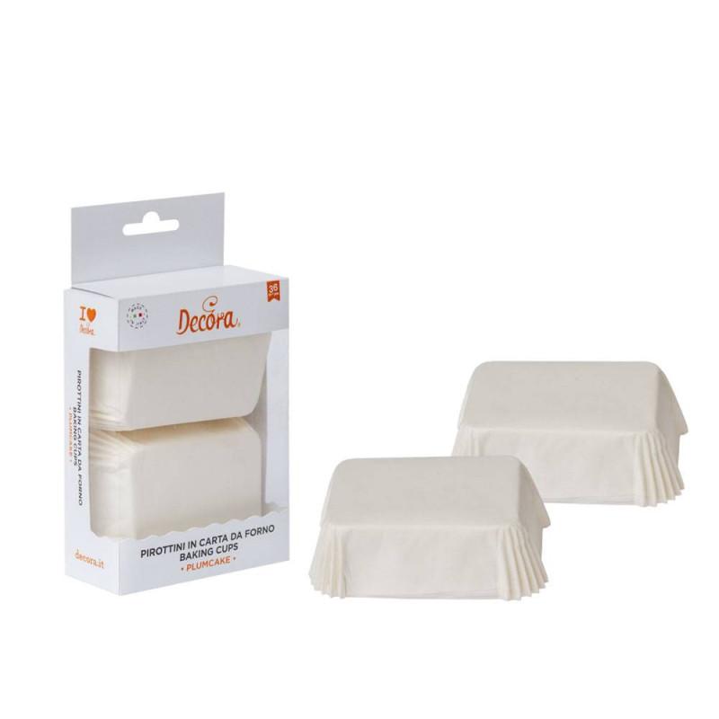 Caissettes à mini cakes blanc x 36