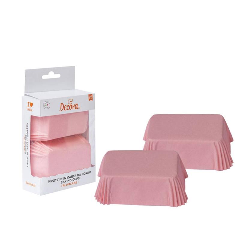 Mini estuches de tarta rosa x 36