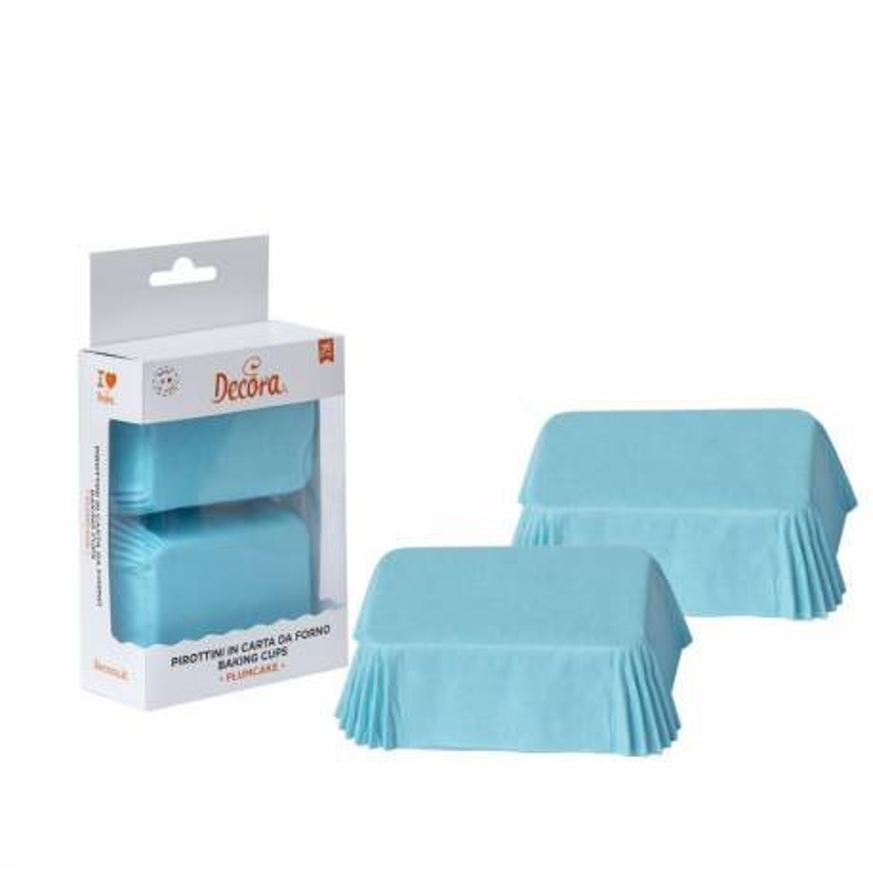 Blue mini cake cases x 36