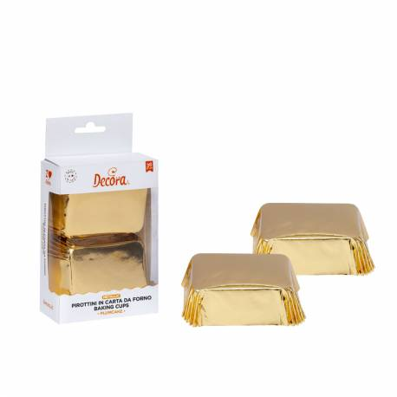 Gold mini cake cases x 20