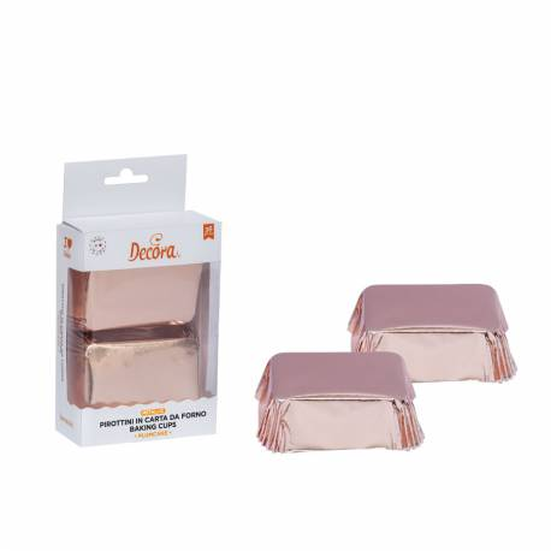 Rose gold mini cake cases x 20