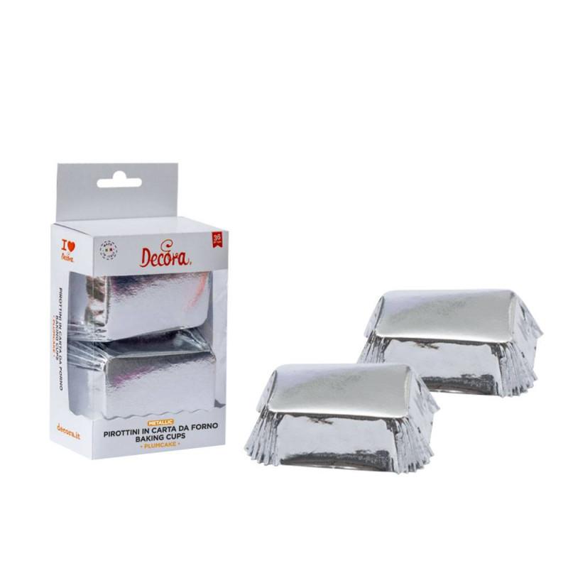 Silver mini cake cases x20