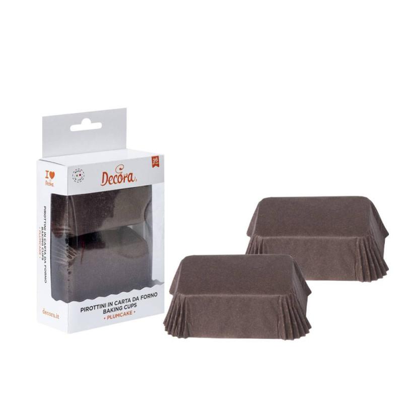 Estuches para mini pasteles marrones x36