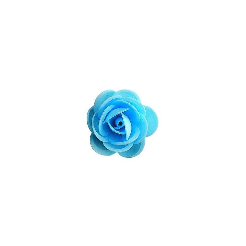 Blue Unleavened Roses 4,5 cm - x 50