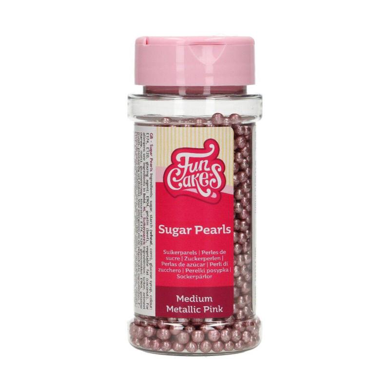 Perles en Sucre Rose Metallic