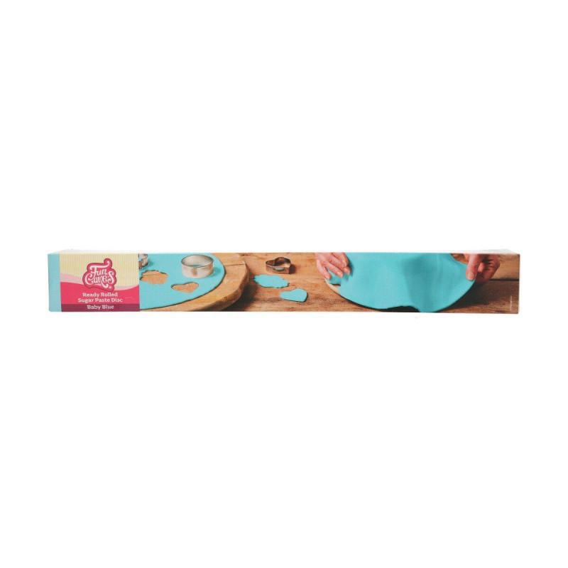 Pasta de azúcar azul lista para rodar
