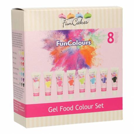 Food colouring gel of Funcakes - 8 colours
