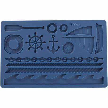 Moulded carpet with Maritime theme Boat and Sea