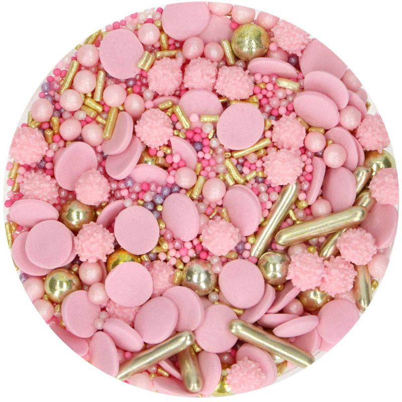 Sprinkles Glamour rosa Funcakes 65 g
