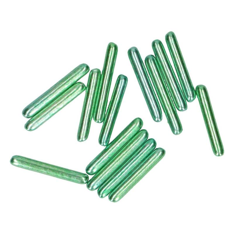Batonnets en sucre vert métallique Funcakes 70 g