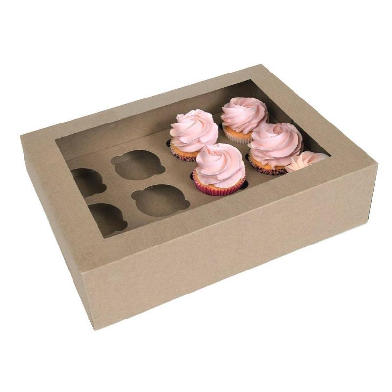 Boites à cupcakes en carton 12 cavités - x2
