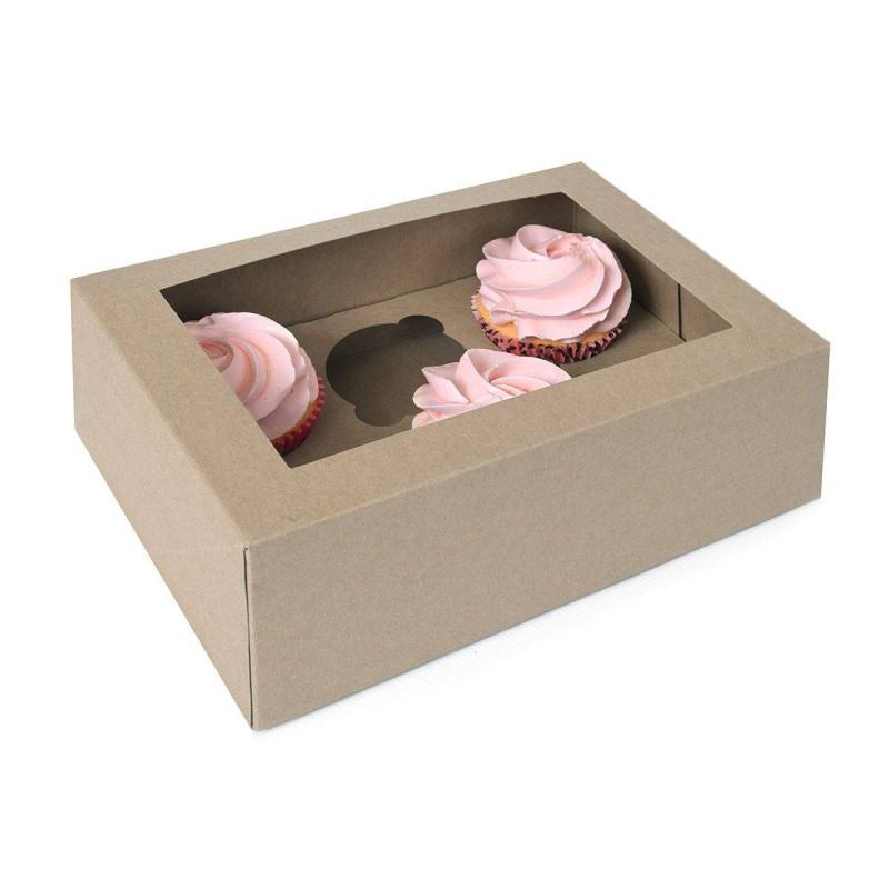Cajas de cartón para magdalenas de 6 cavidades - x2