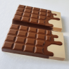 Moule chocolat Tablette coulante - 2 cavités