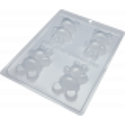 Kit de molde para 2 osos de chocolate 3D - 8cm
