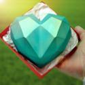 Kit moules coeur diamant géant en chocolat 15cm