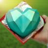 Moule chocolat grand cœur diamant - 1 cavité