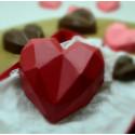 Kit moules 2 coeurs diamants en chocolat 9 cm