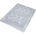 Mould kit for 2 diamond-shaped chocolate bars 14cm