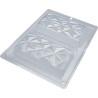 Kit moules 2 tablettes diamants en chocolat 14cm