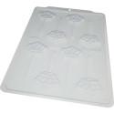 Coronas de piruletas en molde de chocolate - 8 cavidades