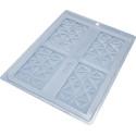 Moule chocolat tablettes diamants - 4 cavités 9cm