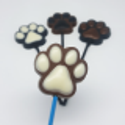 Chocolate mold lollipop dog paws - 6 cavities
