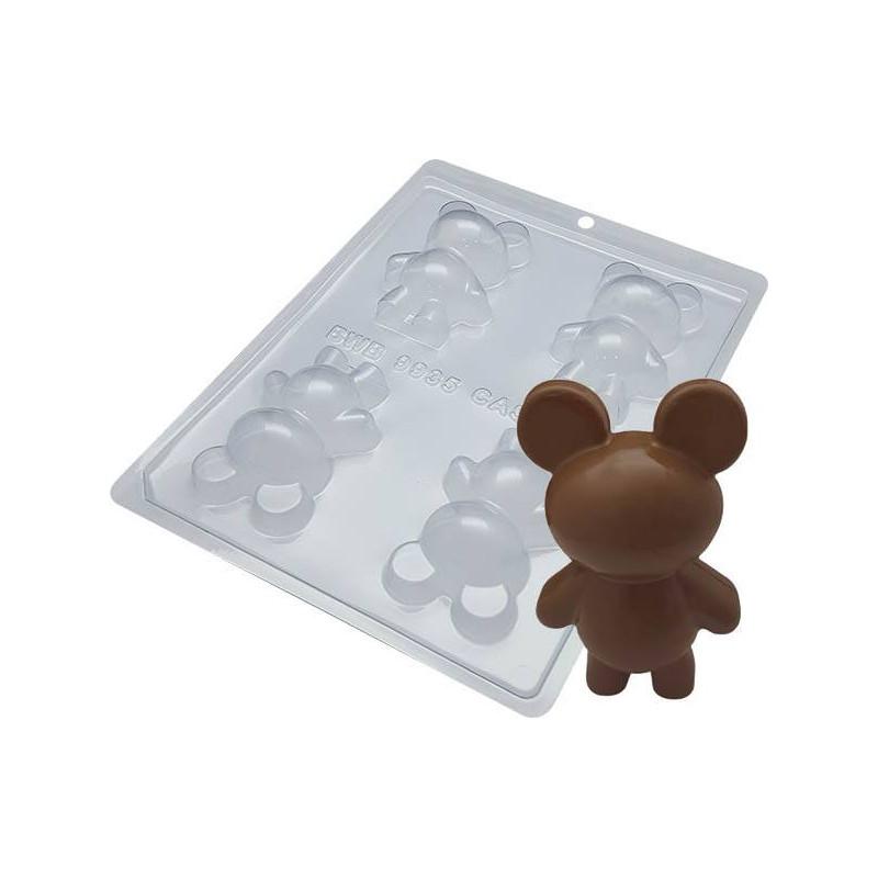 Kit moules 2 oursons en chocolat - 8cm
