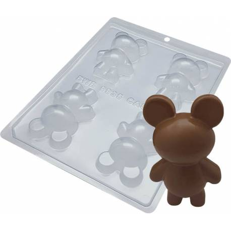 Mould kit for 2 3D chocolate bears - 8cm
