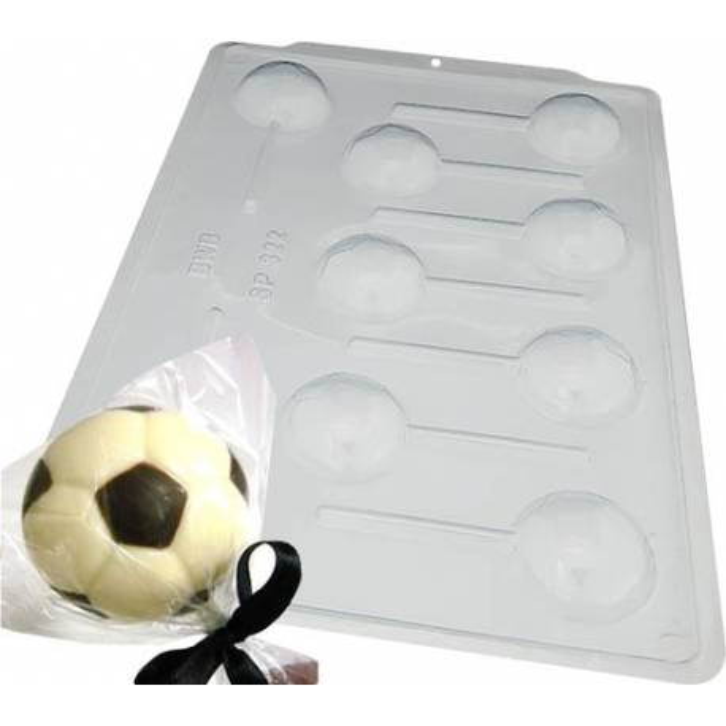 Molde de chocolate para piruleta Balón de fútbol - 9 cavidades