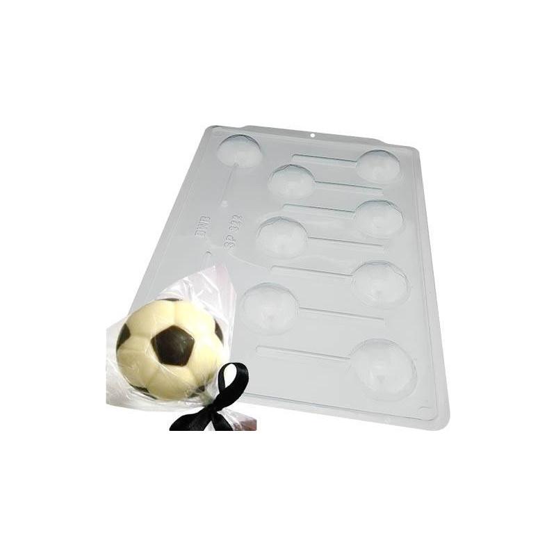 Moule chocolat sucettes Ballon de foot - 9 cavités 5 cm