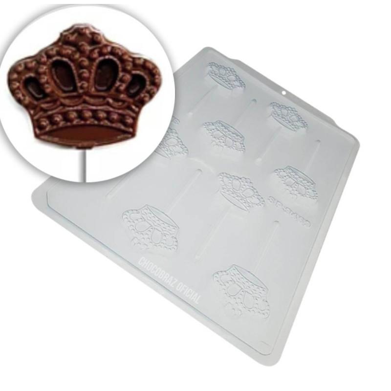 Moule chocolat sucettes couronnes - 8 cavités