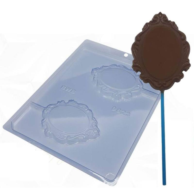 Moule chocolat cadres baroques - 2 cavités