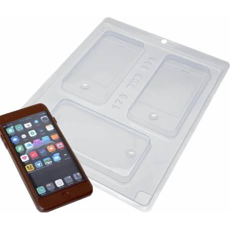 Molde de chocolate smartphone Iphone - 3 cavidades