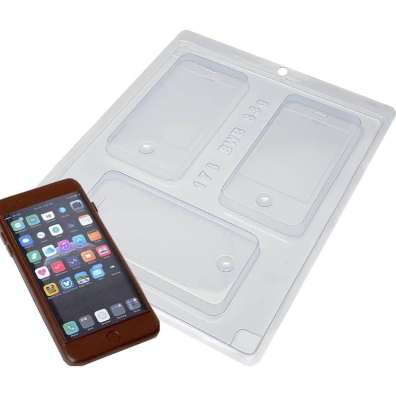 Moule chocolat smartphone Iphone - 3 cavités