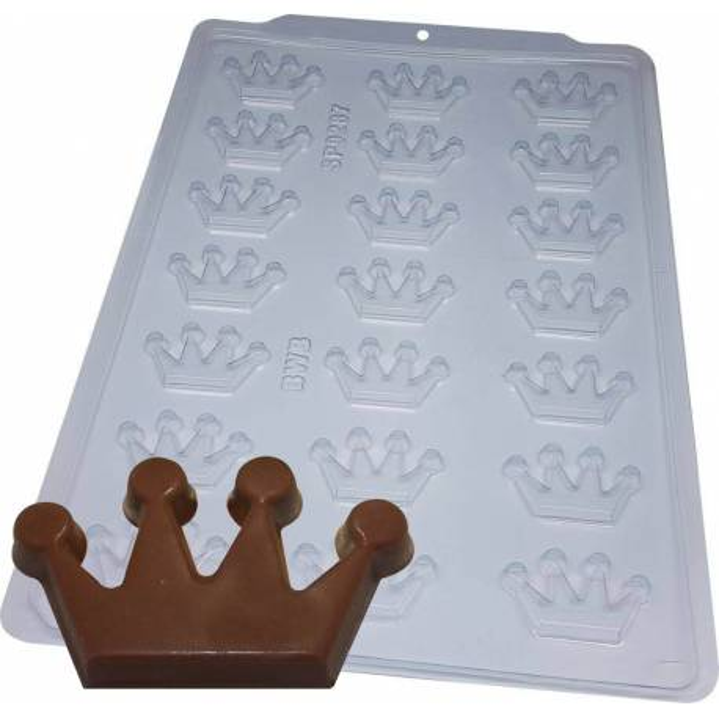 Coronas de molde de chocolate - 21 cavidades
