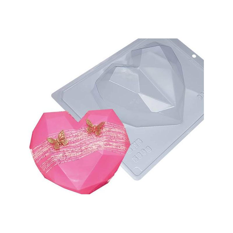 Kit de molde de corazón de chocolate de 15,4 cm