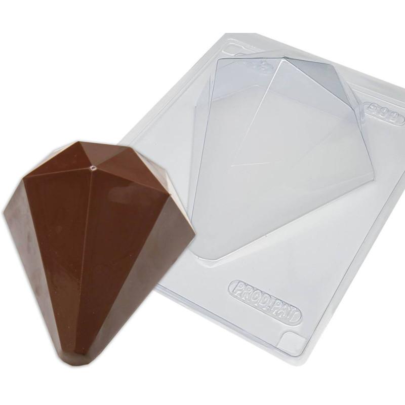 Kit moules diamants géant en chocolat creux 15cm