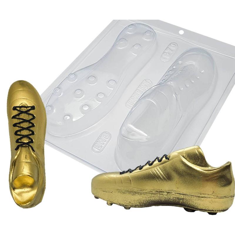 Kit moules chaussure crampons de foot en chocolat 19cm
