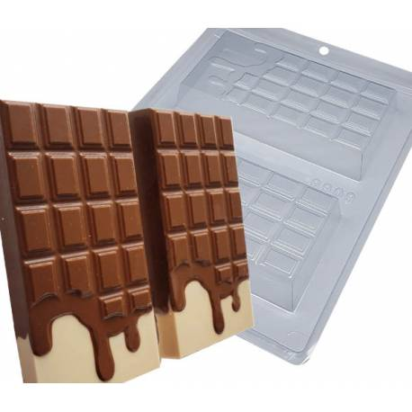 Chocolate moulds 2 runny bars 14cm