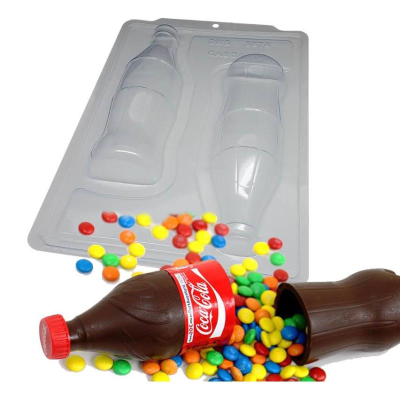 Kit moules bouteille de Coca en chocolat 23cm