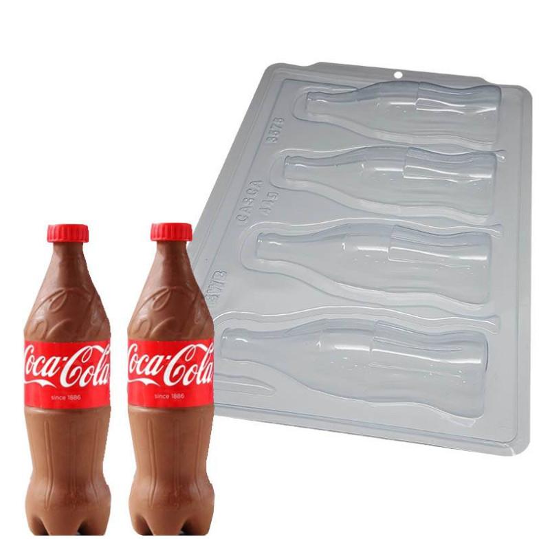 Kit de molde para 2 botellas de coca cola de chocolate de 16,5 cm