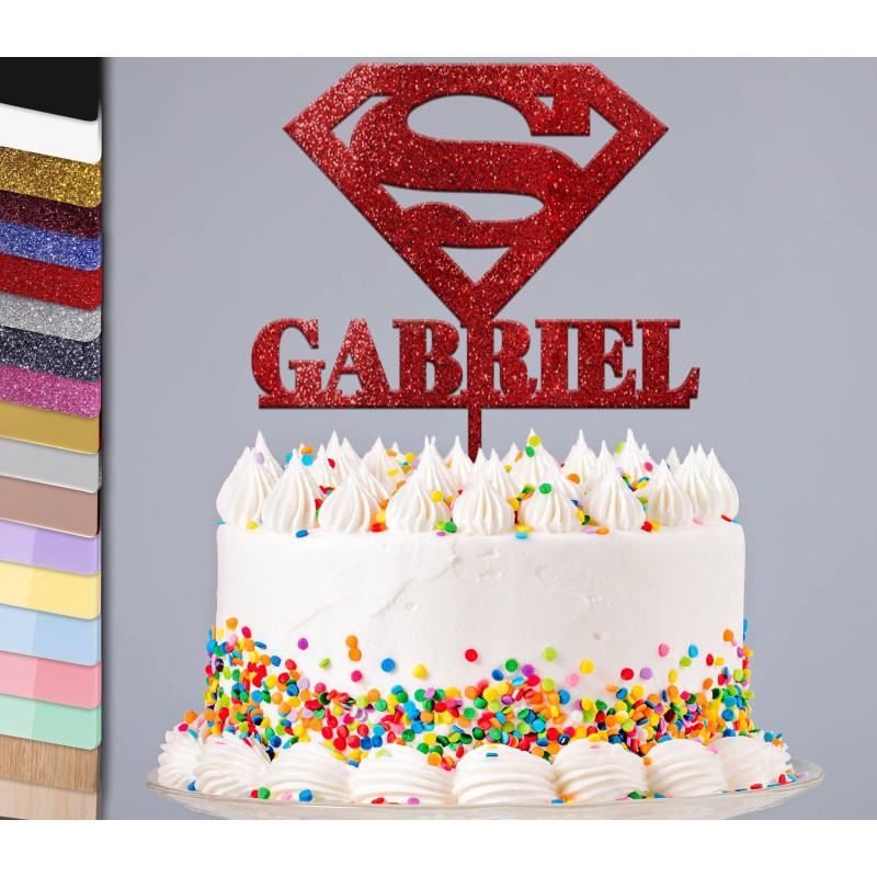 Topper gâteau personnalisé SUPERMAN
