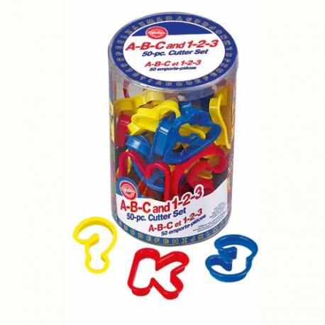Alphabet letter and number cutter WILTON x50