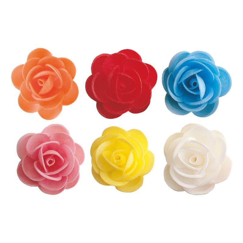 Roses en azyme coloris assortis 4,5 cm - x 50