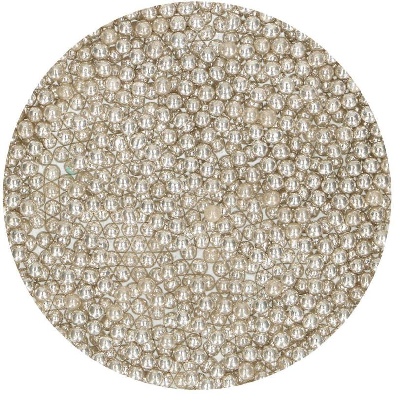 Perles argent brillantes 4mm